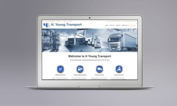 Web Design Derby Agency -Portfolio image for H Young Transport