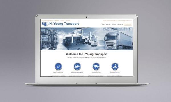 Web Design Derby Agency -Portfolio image for H Young Transport