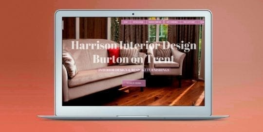 Web Design Derby Agency -Portfolio image for Harrison Interior Design