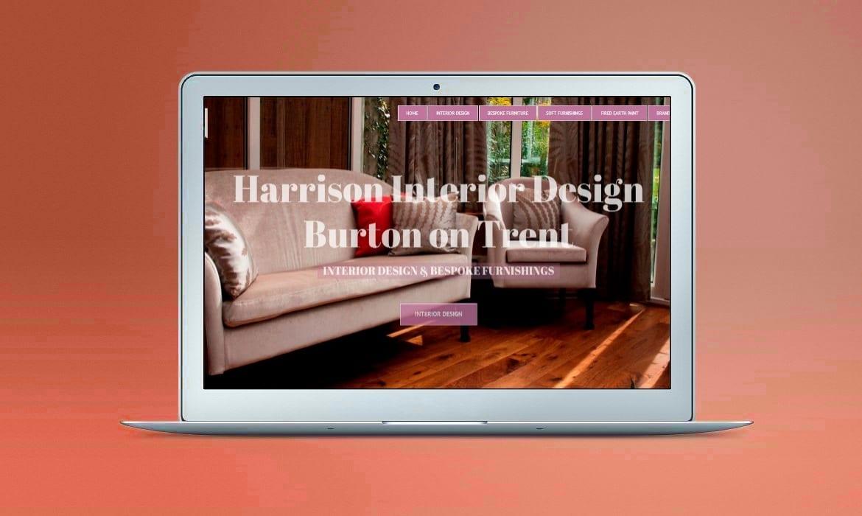 Web Design Derby Agency -Portfolio image for Harrison Interior Design