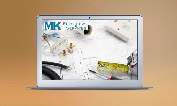 Web Design Derby Agency -Portfolio image for MK Electrical
