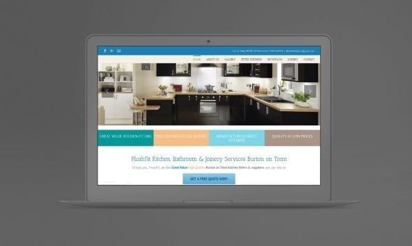 Web Design Derby Agency -Portfolio image for Plushfit Kitchens