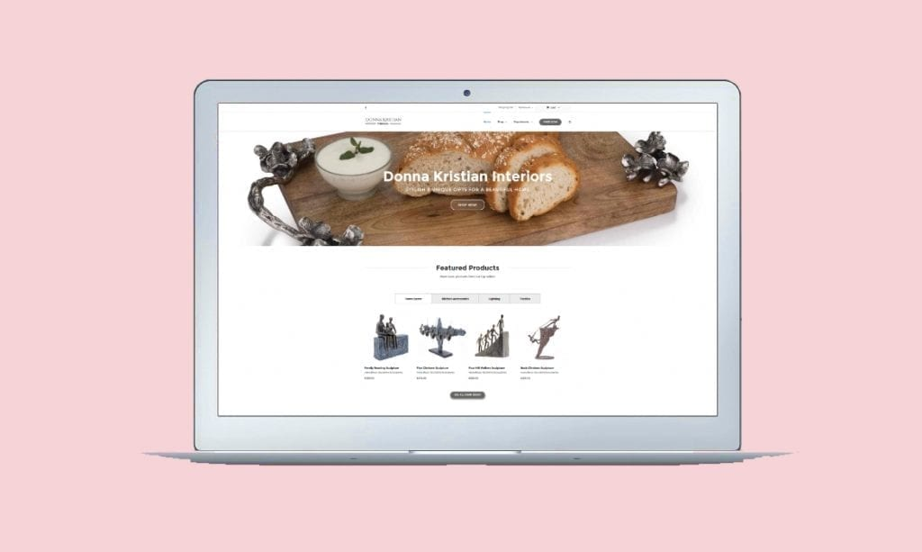 Example of one of website designs Derby & Burton on Trent - online ecommerce shop