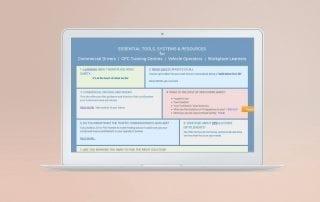 portfolio example of website design for Drive Time Solutions website