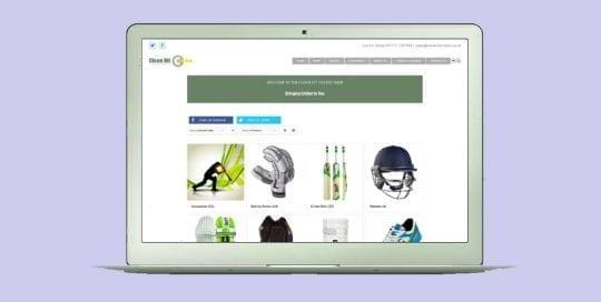 Portfolio example of an online ecommerce web design for derby & burton on trent