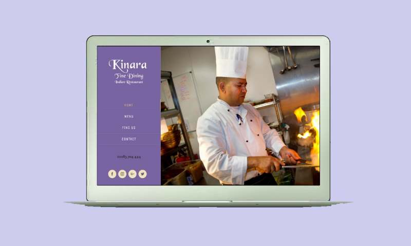 Responsive Website Design Derby inc Expert SEO - Kinara Example - Mobile - Kinara used a local Burton on Trent web design agency